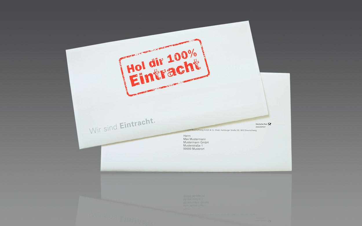 LITHOSCAN crossmedia | Selfmailer, geschlossen für Eintracht Braunschweig