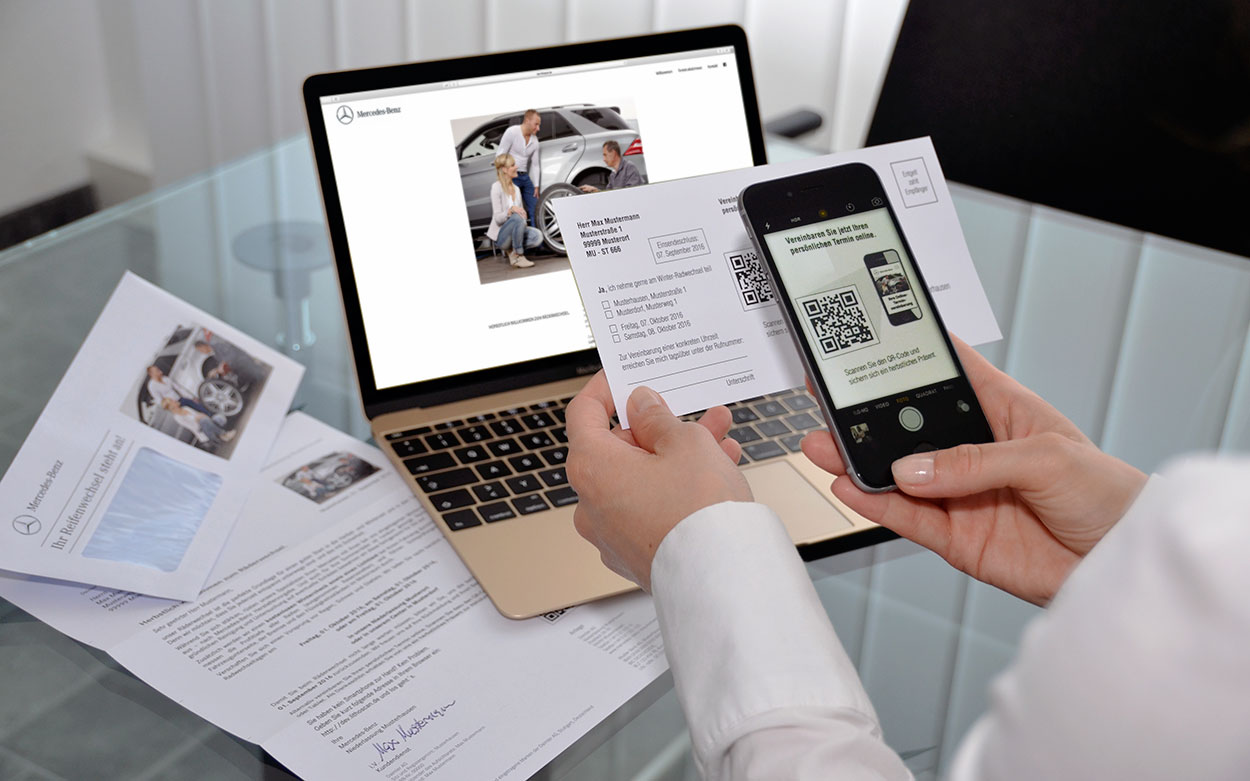 LITHOSCAN crossmedia | Print-Mailing mit QR-Code als Response-Element