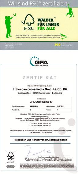 LITHOSCAN crossmedia | FSC-Zertifizierung